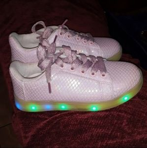 LED LIGHT UP CHARGABLE GIRLS PINK MERMAID SHOES